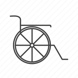 healthcare, wheelchair icon