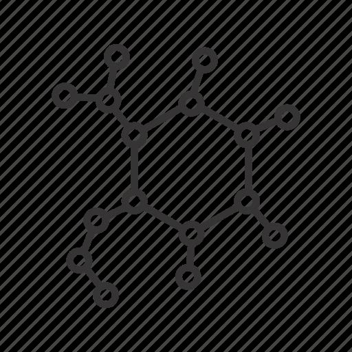 atom, biology, dna, molecule, science icon