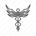 caduceus, healthcare, medical icon