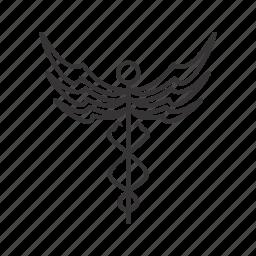 caduceus, healthcare, medical icon