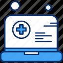 add, hospital, laptop, technology