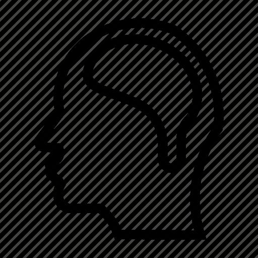 brain, head, headache, mind, patient icon