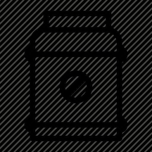 ban, bottle, jar, pharmacy, stop icon