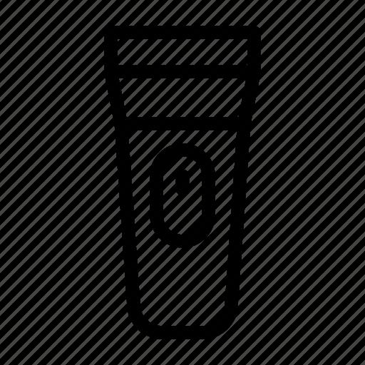 bulb, device, electric, flashlight, torch icon
