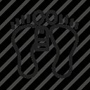 body, dead body, dead person, feet, tag, victim, lying icon