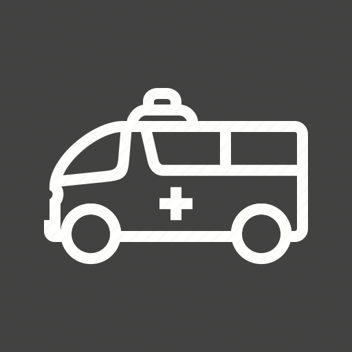 ambulance, deliver, emergency, health care, hospital, medical, vehicle icon