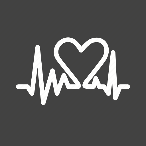 cardiac, cardiology, ecg, heart, heart beat, human organ, pulse icon