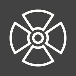 caution, dangerous, radiation, radio therapy, radioactive, warning sign, zone icon