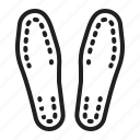 foot, insoles, orthopedic, orthotics, shoes icon
