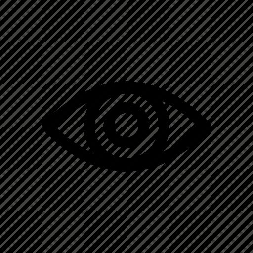 eye, medical, retina, view, vision icon