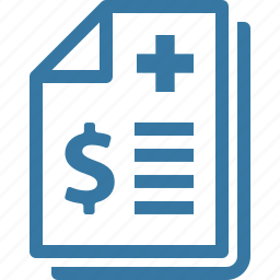 health insurance, medical bill, medical receipt icon