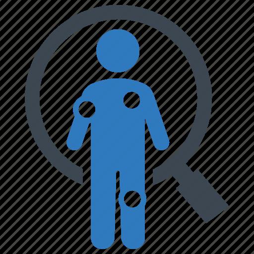 diagnosis, patient, symptom checker icon