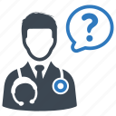 ask a doctor, medical help, medical question icon