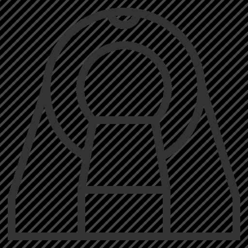 device, diagnostic, equipment, line, mri, outline, research icon