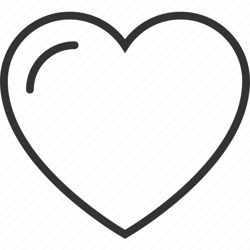 heart, line, outline icon