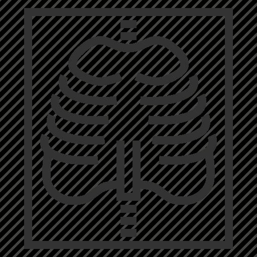 cage, line, ray, skeleton, x, x-ray, xray icon