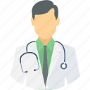 doctor, healthcare, male, medical, medical assistant, physician, provider icon