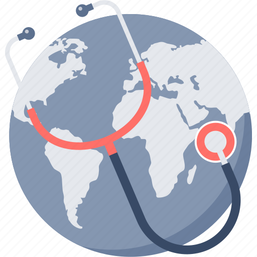 global, global health, global healthcare, healthcare, medical, medicine, stethoscope icon