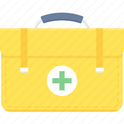briefcase, cross, firstaid, healthcare, kit, medical, medical box icon