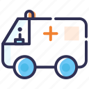 ambulance, emergency, hospital, hospital van, medical service, siren icon