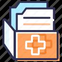 bill, health report, medical files, medical record, medical report, prescription, report icon