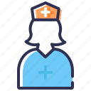 nurse, female doctor, sister, hospital staff, doctor icon