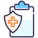 health report, medical file, medical record, medical report, prescription, report icon