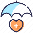health insurance, healthcare, life insurance, medical insurance, trust icon