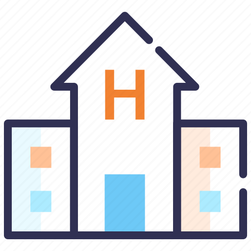 building, clinic, emergency, healthcare center, hospital, medical center icon