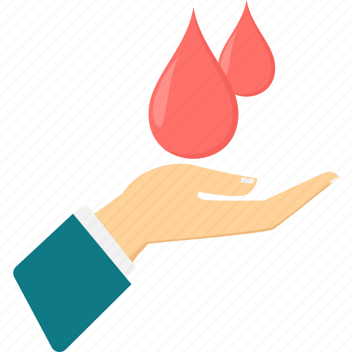 blood, care, donate blood, donation, drop, hand, love icon