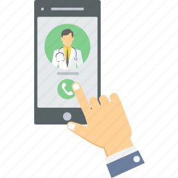 advise, call, call doctor, doctor, medical, mhealth, mobile icon