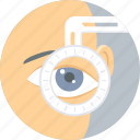 checkup, eye, eye care, eye surgery, eye test, visible, vision icon