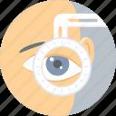 checkup, eye, eye test, eye care, visible, vision, eye surgery icon
