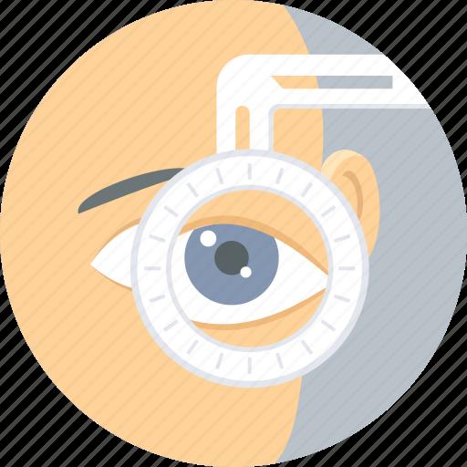 checkup, eye, eye care, eye surgery, eye test, visible, vision icon