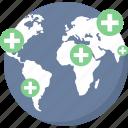 medical, global, hospital, gps, hospital location, global hospital, healthcare icon