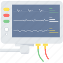 device, electronics, health, medical, medical electronics, medical monitor, monitor icon