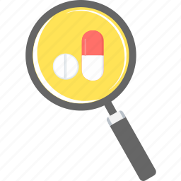 drug, find, medicine, pharmacy, pills, search, tablet icon