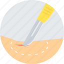 blade, cut, health, knife, medical, operation, surgery icon