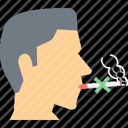 cigarette, no cigarette, no smoking, prohibited, quit, smoking, smoking prohibited icon