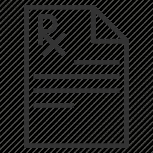 line, outline, prescription, rx icon