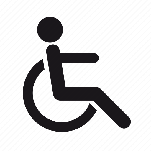 disabled, handicapped, handicapped person, medical, rolling chair icon