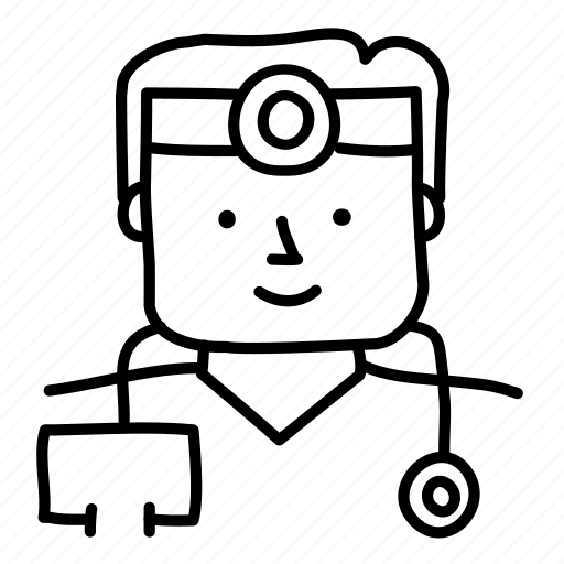 doctor, health, hospital, male, medical, physician, sketch icon