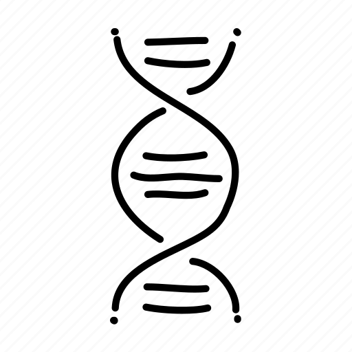 dna, double helix, genetics, health, hospital, medical, sketch icon