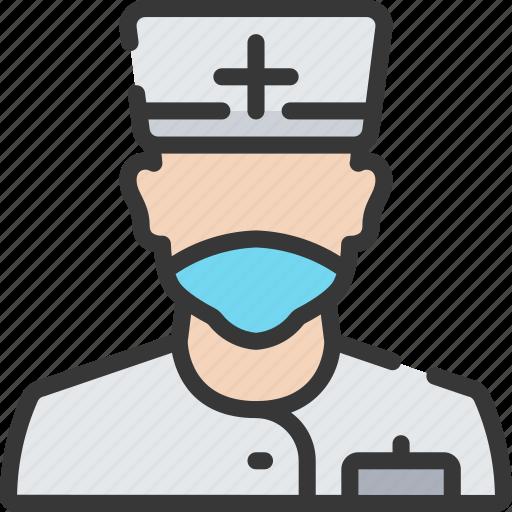 health care, hospital, male, medical, nurse icon