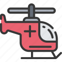 health care, helicopter, hospital, medic, medical, transport icon