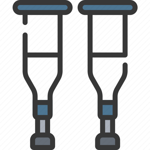 crutch, crutches, health care, hospital, medical icon