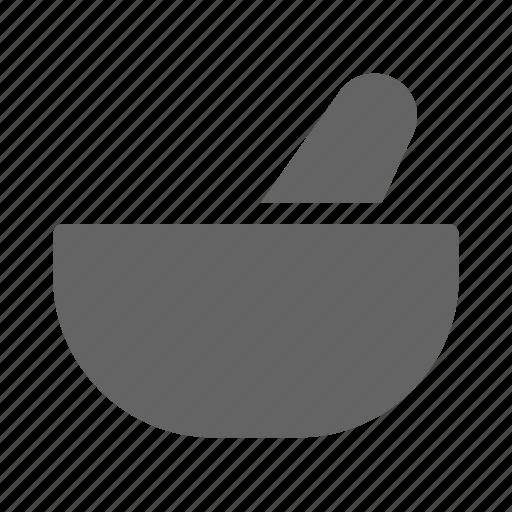 herbal, mortar, pestle, pharmacy icon