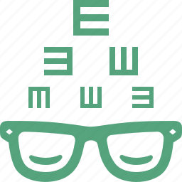 eye care, eye consultation, eyesight, glasses icon