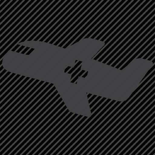 aid, airplane, flight, medical icon
