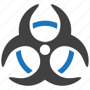 biohazard, biological hazard, danger icon
